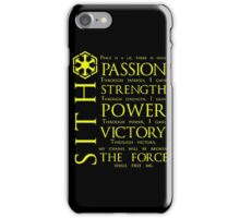 SITH Quotes iPhone Case/Skin