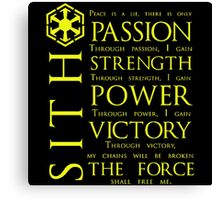 SITH Quotes Canvas Print