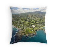 Aerial Along Maui Coast Throw Pillow