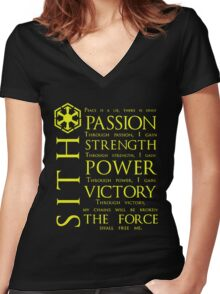 SITH Quotes Women's Fitted V-Neck T-Shirt