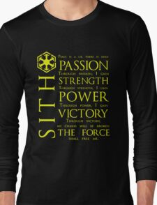 SITH Quotes Long Sleeve T-Shirt