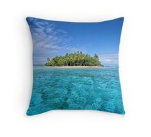 Motu Island, Bora Bora Throw Pillow