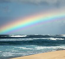 Hawaiian North Shore Rainbow by printscapes