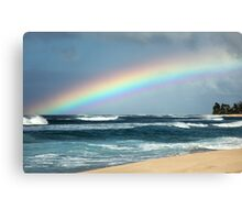 Hawaiian North Shore Rainbow Canvas Print