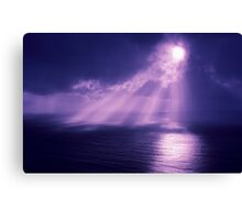 Sunrays Over the Ocean Canvas Print