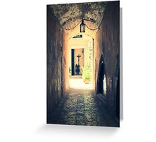 The Church at the end of the Tunnel, Chania, Greece Greeting Card