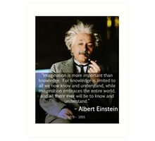 Albert Einstein Imagination Art Print