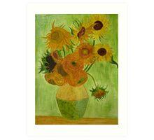 Sunflowers - Vincent Van Gogh - reproduction Art Print