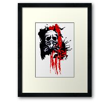Polka Trash Holocaust Skull  Framed Print