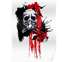 Polka Trash Holocaust Skull  Poster