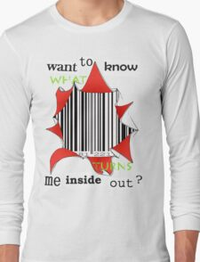 Want to know me inside out? (3) - Barcode Long Sleeve T-Shirt