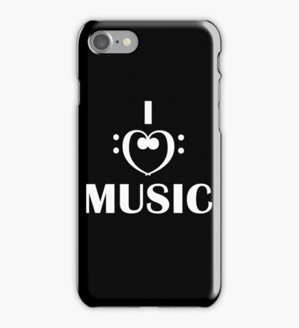 I love music  iPhone Case/Skin