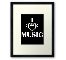 I love music  Framed Print