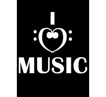 I love music  Photographic Print