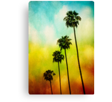 4 Palms Canvas Print