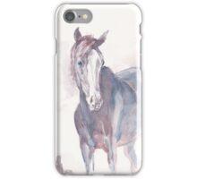 top tornado horse watercolor painting iPhone Case/Skin
