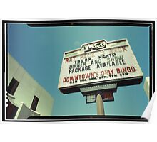 Las Vegas Neon Sign in Kodachrome Poster