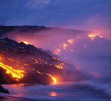 Lava Flow at Kilauea by printscapes