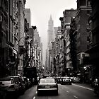Manhattan avenue in black and white by Reinvention