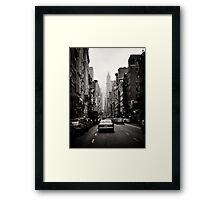 Manhattan avenue in black and white Framed Print