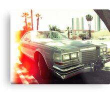American vintage car in Kodachrome Metal Print