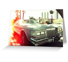 American vintage car in Kodachrome Greeting Card