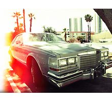 American vintage car in Kodachrome Photographic Print