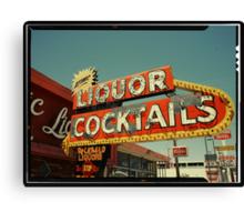 Las Vegas Neon Sign in Kodachrome Canvas Print