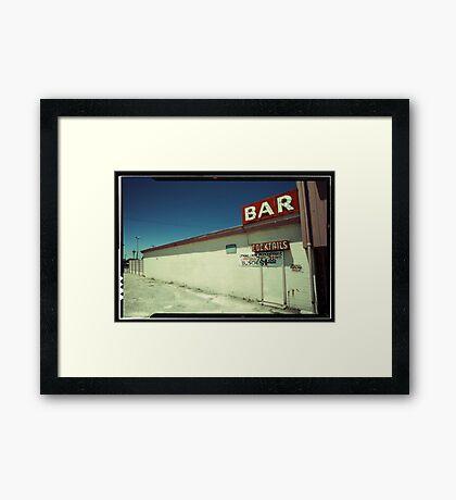 Las Vegas Bar Neon Sign in Kodachrome Framed Print