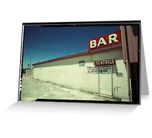 Las Vegas Bar Neon Sign in Kodachrome Greeting Card