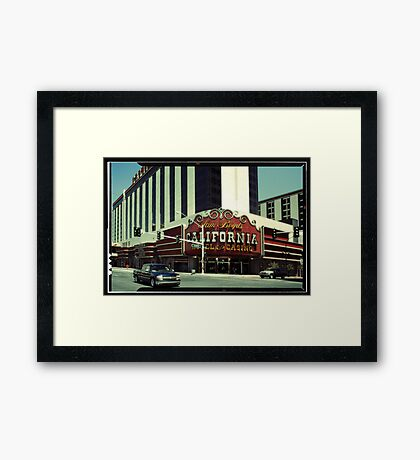 In the streets of Las Vegas Framed Print