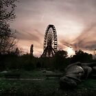 Abandoned fun fair, amusement park in East Berlin by Reinvention