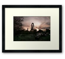 Abandoned fun fair, amusement park in East Berlin Framed Print