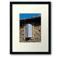 blue shutters Framed Print