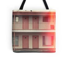 Pink Motel with swimming pool in Kodachrome Tote Bag