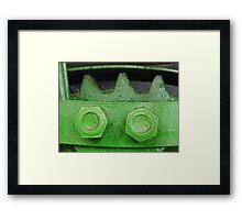 Two Bolts Three Gears Framed Print