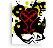 Heartless White(Kingdom Of Hearts) Canvas Print