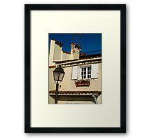 white shutters Framed Print