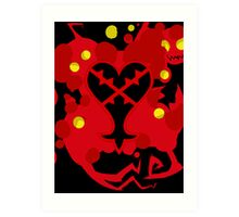 Heartless Red (Kingdom Of Hearts) Art Print