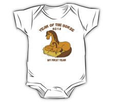 Year of The Horse Baby 2014 One Piece - Short Sleeve
