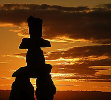 Inukshuk Sunset by Brian Chase