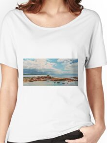 Pelican Perched on Rock Women's Relaxed Fit T-Shirt