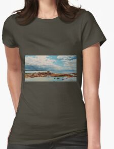 Pelican Perched on Rock Womens Fitted T-Shirt