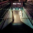 Paris Metro Entrance at night by Reinvention