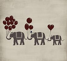 Elephant Parade by pencreations