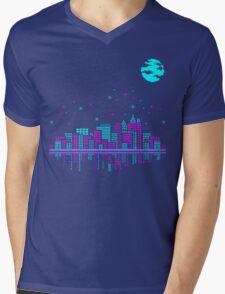 Pixelated Dreams Mens V-Neck T-Shirt