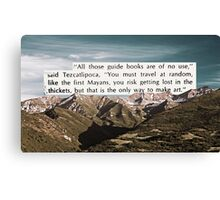 Wise Words of Art Canvas Print