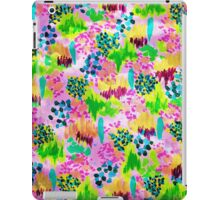 LAGOON LOVE- bright vibrant Waterscape Floral Elements Abstract Acrylic Painting iPad Case/Skin