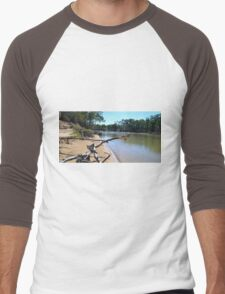 Murray River, Echuca Men's Baseball ¾ T-Shirt