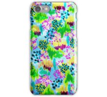 LAGOON LOVE 2 - Bright Blue Green Colorful Abstract Acrylic Waterscape Floral Pattern Nature Theme  iPhone Case/Skin